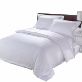 Get Cheap Solid Color White Luxury Look Hotel Collection 100 Pure Cotton Bed Sheet Sets