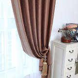 Solid Grommet Window Curtain Foam Lined Blackout Thermal Treatment Coffee Price