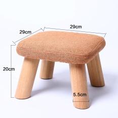 Solid Wood Tea Table Stool Creativity Children Shoes Stool Cloth Art Small Wooden Bench Sofa Short Pier Short Bench - intl