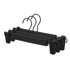 Sorplus Black Plastic Hanger For Pants With Clips Round Hook Pack Of 20 Intl Shopping