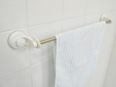 Imported from South Korea Changxin Towel Hanging Rod Stainless Steel Qanl Sucker Wall Spacious ABS Plastic Bathroom