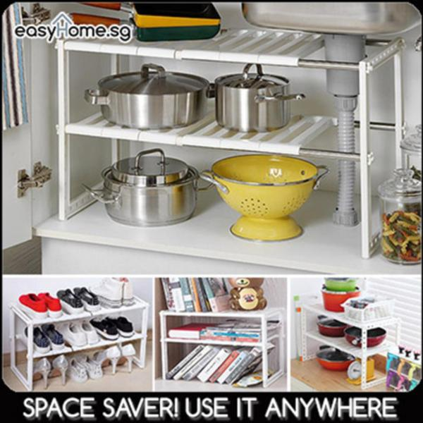 Space Arrangement Rack - Adjustable Shelf Under Sink Storage