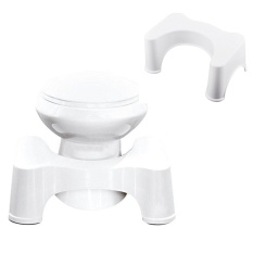 Space Saver Bathroom Toilet Stool Easier Compact Bathroom Toilet Stool Pedicure Footrest White Intl Online