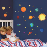 Compare Prices For Mimosifolia Space Universe Planet Wall Sticker Decal Wallpaper Pvc Mural Art House Decoration Home Picture Wall Paper For *d*lt Kids