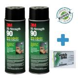 Special Bundle 2 X 3M™ Hi Strength 90 Spray Adhesive Spray 24 Fl Oz Free Scotch Brite™ 74 Scrub Sponges Lowest Price