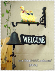 Special European Retro Decorative Wind Chimes Bird Creative Welcome To Visit Bell Wall Decorative Hanging Ornaments Shopping