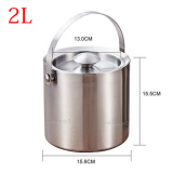 Buy Special Handle 304 Stainless Steel Ice Bucket Double Insulation Security And Cold Ice Bucket Wine Yang Beer Sealed Bucket Ice Particles Barrel On China
