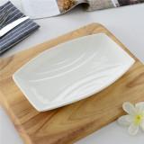 Sale Classic White Hotel Ceramic Hot Plate Dish China