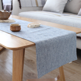 Buy Li Jian Simple Cotton Linen Plain Table Cloth Table Runner On China
