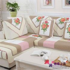 Special Offer Korean Style Pure Cotton Fabric Block Quilted Four Seasons Sofa throw pillow Window throw pillow Sofa Cover
