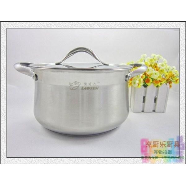 Product Shoppe South Korea LAOTESI hao chu Stew Pot Stainless Steel Kitchen Dual Handle Composite Sole Stew Pot Singapore