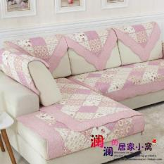 Low Price Pastoral Cotton Pink Quilted Sofa Sets Sofa Pad