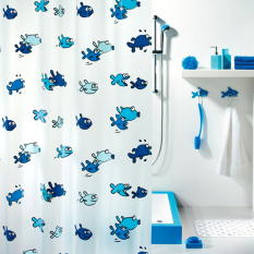 How Do I Get Spirella Cartoon Plastic Semi Transparent Waterproof Shower Curtain
