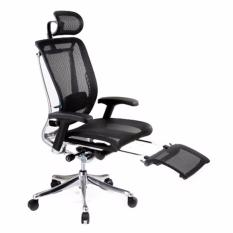 Spring Luxury Office Chair With Legrest (Black) Singapore