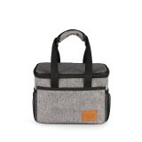 Kinnet Square Waterproof Insulated Thermos Thermal Cooler Tote Lunch Bag Picnic Bag Hot Bag Cooler Bag 6L(Heather Grey) Coupon Code
