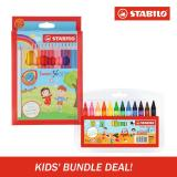Stabilo Swans Colored Pencils W Jumbo Wax Crayons Set Compare Prices