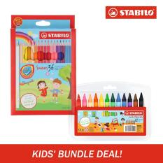 Latest Stabilo Swans Colored Pencils W Jumbo Wax Crayons Set
