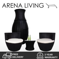 Buying Stackable Patio Set White Cushion Outdoor Furniture By Arena Living™