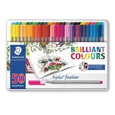 Staedtler Color Pen Set 334M50Jb Set Of 50 Assorted Colors In Metal Tin Box Triplus Fineliner Pens Intl Coupon