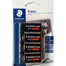 Staedtler Eraser (dust Free Premium Quality) - 4 Count (compact) By Pink Zebra.