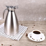 Low Cost Stainless Steel Coffee Pot Double Wall Vacuum Insulated Thermo Jug Hot Water Bottle 1 5L Silver Intl