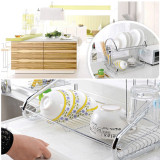 Top 10 Stainless Steel Dish Rack 2 Tier Space Saver Dish Drainer Drying Holder Sliver