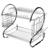 Buy Stainless Steel Dish Rack 2 Tier Space Saver Dish Drainer Drying Holder Sliver Cheap On China
