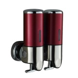 Discounted Stainless Steel Double Wall Mount Shower Shampoo And Soap Dispensers Red Intl