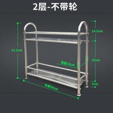 Buy Stainless Steel Floor Bathroom Storage Rack Shelving Rack Cheap On China