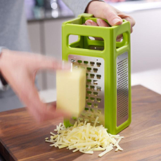 Low Cost Stainless Steel Foldable Stereo Super Fruit Vegetable Grater Slicer Peeler Dicer Clever Cutter Food Chop Kitchen Tool Accessories Intl
