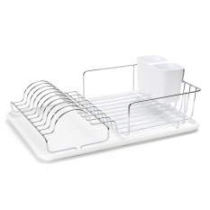 Coupon Stainless Steel Kitchen Sink Drip Dish Bowl Drainer Rack Cutlery Draining Tray White Intl