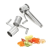 Wholesale Stainless Steel Manual Rotary Cheese Grater Slicer Multi Purpose Cheeses Carrots Cucumbers Cutter Shredder With 3 Interchanging Drums Intl