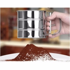 Stainless Steel Mesh Flour Sifter Baking Icing Sugar Sieve Tool Cup Shape - Intl By Yw Store.