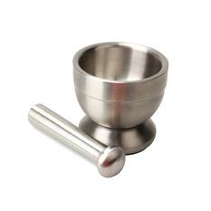Sale Stainless Steel Mortar And Pestle Pedestal Bowl Kitchen Garlic Pugging Pot On China