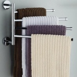 Stainless Steel Swing Out Towel Bar Hanger Holder Organizer Wall Mounted Intl Review