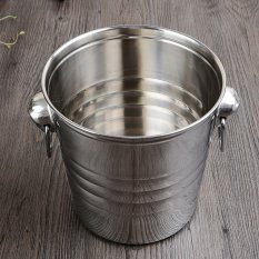 Discounted Stainless Steel Tiger Ice Bucket Ktv Champagne Bucket Wine Bucket Spit Barrels Ice Particles Barrel Bar Beer Barrels Shipping