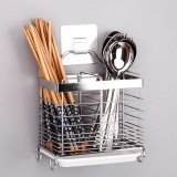 Review Stainless Steel Utensils Forks Spoon Knives Chopsticks Cutlery Holder Organizer Drainer Intl On China