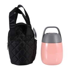 Best Reviews Of Stainless Steel Vacuum Thermal Lunch Box Insulated Food Jar Flask Soup Container With Bag Pink Intl