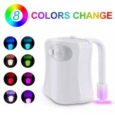 STAND HIGH Toilet Night Light Motion Activated LED Toilet Bowl Light 8 Color-changing UV Toilet Lights - intl