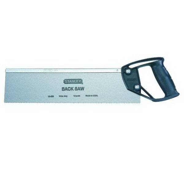 Stanley 15509 14inch Back Saw (Silver)