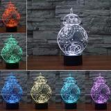 Star Ever 3D Lamp Star War Fuwa Force Awaken Bb 8 Night 7 Color Change Best Gift Night Light Led Furnish Desk Table Lighting Home Decoration Toys Intl Best Price