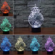 Buy Star Ever 3D Lamp Star War Fuwa Force Awaken Bb 8 Night 7 Color Change Best Gift Night Light Led Furnish Desk Table Lighting Home Decoration Toys Intl China