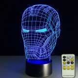 Star Ever Remote Control 3D Led 7 Colors Change Touch Switch Table Desk Lamp Light Intl Coupon