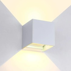 Who Sells Indoor And Outdoor Aluminum Waterproof Led Adjustable Light Wall Lamp 6W White Warm White Light White Casing Yet Cheap