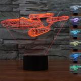 Sales Price Star Trek Uss Enterprise 3D Led Night Light Decoration Lamp 7 Color Key Switch Table Desk Lamp White Intl
