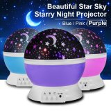 Starry Night Light Romantic Colorful Led Star Moon Sky Rotating Projector Ld728 Free Shipping