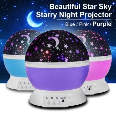 Buy Starry Night Light Romantic Colorful Led Star Moon Sky Rotating Projector Ld728 Cheap On Singapore