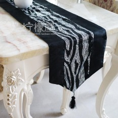 New Mountain Stitching Sequin European Coffee Table Cloth Table Runner