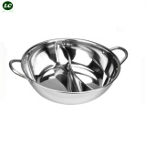 Cheaper Stock Pot Stainless Steel Cooking Pot With Devide 2 Grid Soup Pot 30Cm