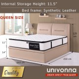 Storage Bed With 11 Individual Pocket Spring Mattress Univonna Cheap On Singapore